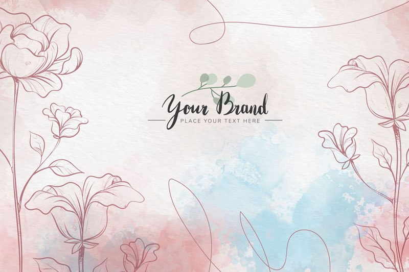 Floral Water Colour Skin Background